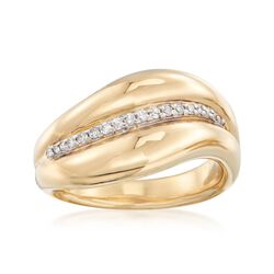 .12 ct. t.w. Diamond Center Ring in 14kt Yellow Gold, , default