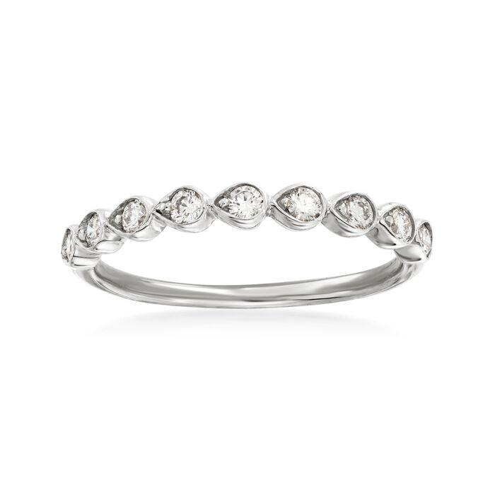 Henri Daussi .26 ct. t.w. Diamond Wedding Ring in 14kt White Gold, , default