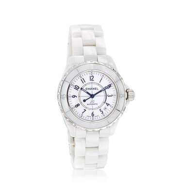 Pre-Owned Chanel J12 Women's 38mm Automatic Stainless Steel and White Ceramic Watch, , default