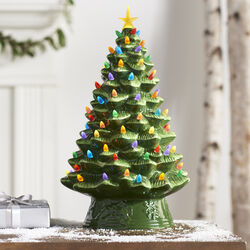"Mr. Christmas 17"" Illuminated Nostalgic Green Tree, , default"