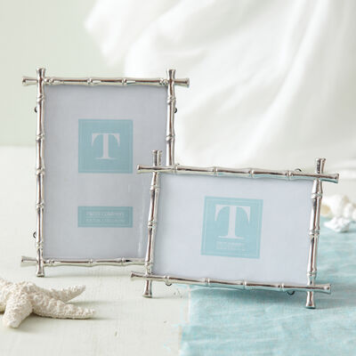 Set of Two Bamboo Photo Frames, , default