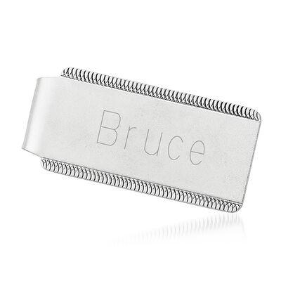Sterling Silver Engravable Money Clip, , default