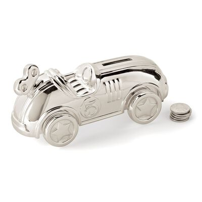Reed & Barton Silverplate Race Car Bank, , default