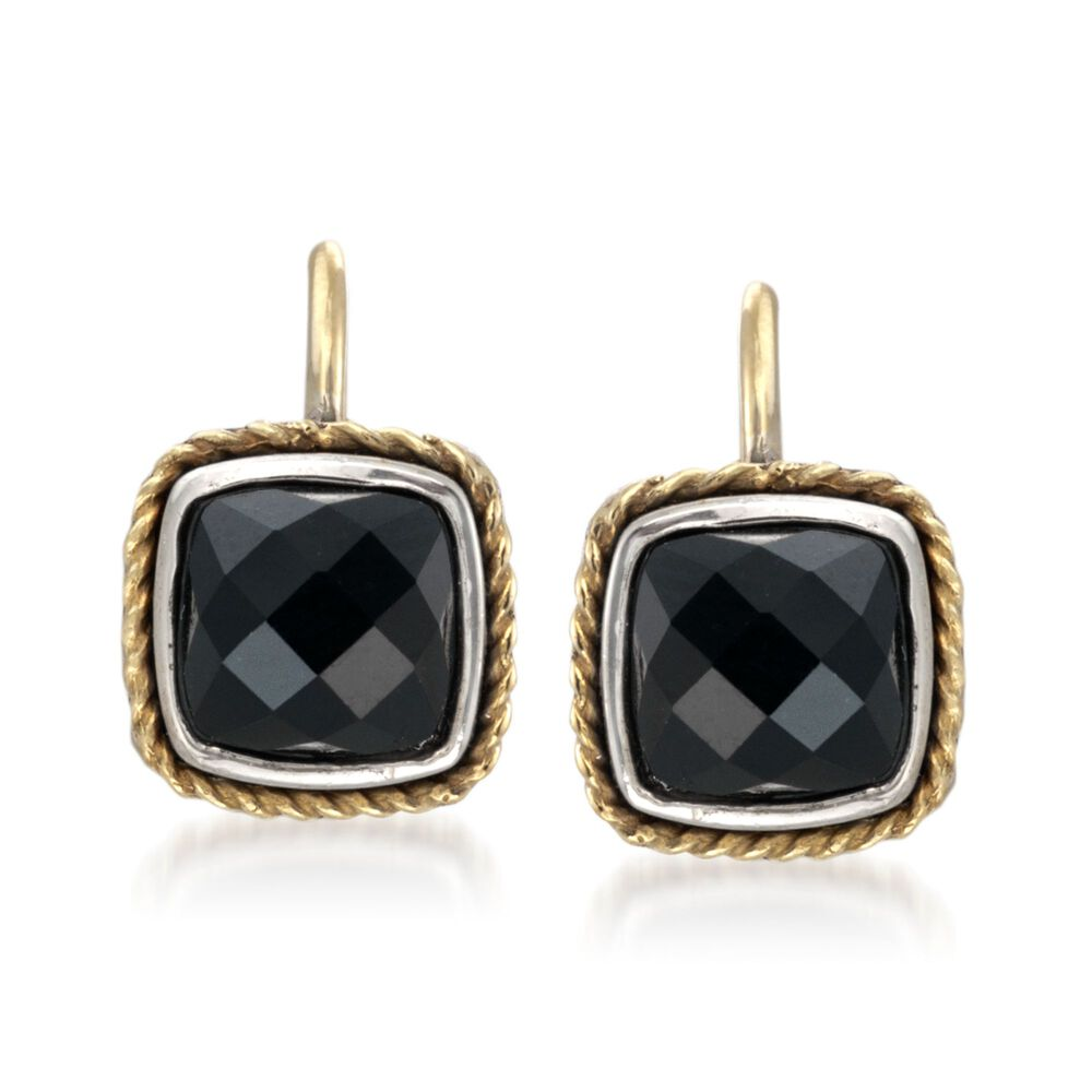Andrea Candela Black Onyx Earrings In 18kt Yellow Gold And Sterling Silver Default