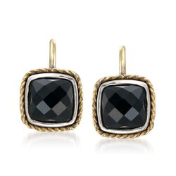 Andrea Candela Black Onyx Earrings in 18kt Yellow Gold and Sterling Silver, , default