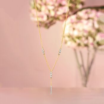 """.26 ct. t.w. Diamond Y-Necklace in 14kt Yellow Gold. 20"""", , default"""