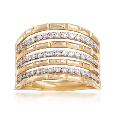 .50 ct. t.w. Diamond Multi-Row Ring in 14kt Yellow Gold, , default