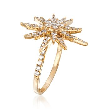 1.00 ct. t.w. Diamond Starburst Ring in 14kt Yellow Gold, , default