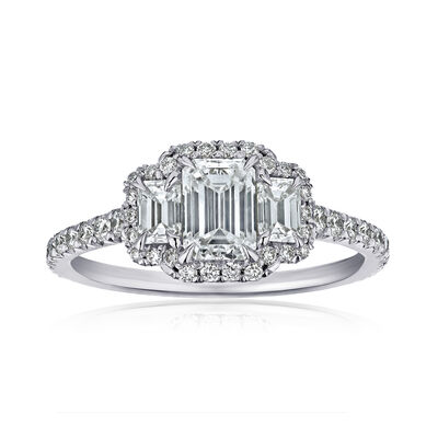 1.37 ct. t.w. Diamond Three-Stone Ring in Platinum, , default