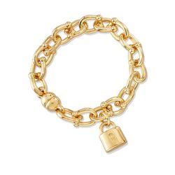 Italian Andiamo 14kt Yellow Gold Charm Bracelet, , default