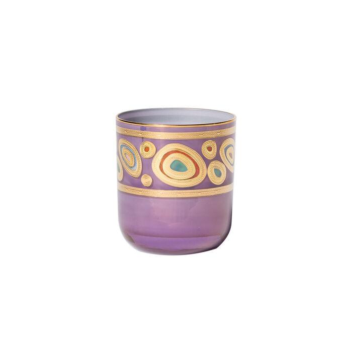 """Vietri """"Regalia"""" Purple Double Old-Fashioned Glass"""