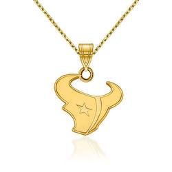 "14kt Yellow Gold NFL Houston Texans Pendant Necklace. 18"", , default"