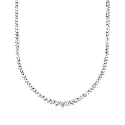 7.00 ct. t.w. Graduated Diamond Tennis Necklace in 14kt White Gold, , default