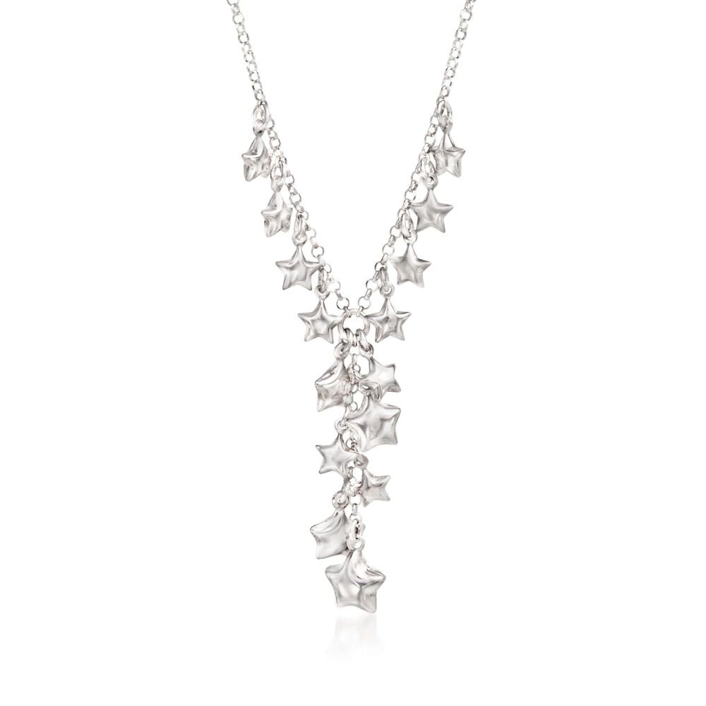 Sterling Silver Star Charm Y Necklace