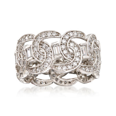 3.19 ct. t.w. CZ Link-Style Eternity Band in Sterling Silver