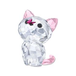 "Swarovski Crystal ""Kitten Millie the American Shorthair"" Clear and Pink Crystal Figurine, , default"