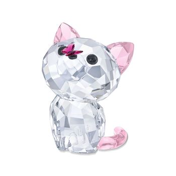 "Swarovski Crystal ""Kitten Millie the American Shorthair"" Clear and Pink Crystal Figurine, , default"