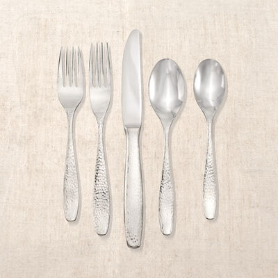 """Reed & Barton """"Palmer Hammered"""" 65-pc. Service for 12 Stainless Steel Flatware, , default"""