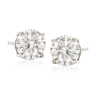 2.25 ct. t.w. Diamond Stud Earrings in 14kt White Gold, , default
