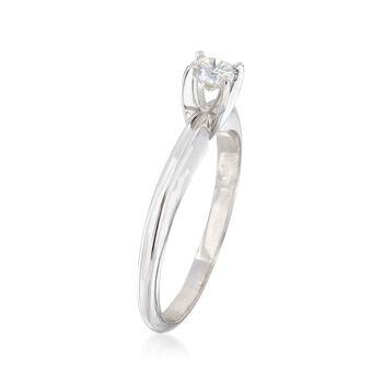 C. 2000 Vintage .30 Carat Diamond Ring in 14kt White Gold. Size 6.5, , default