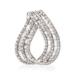 .93 ct. t.w. Diamond Loop Slide Pendant in 14kt White Gold, , default