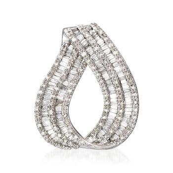 .93 ct. t.w. Diamond Loop Slide Pendant in 14kt White Gold, , default
