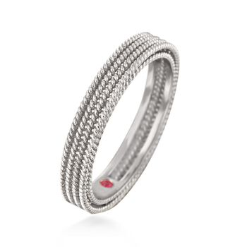 """Roberto Coin """"Symphony Barocco"""" 18kt White Gold Four-Row Ring. Size 6.5, , default"""