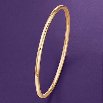 3mm 14kt Yellow Gold Bangle Bracelet, , default
