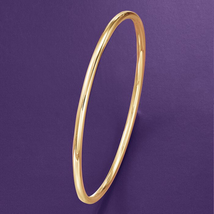 3mm 14kt Yellow Gold Bangle Bracelet