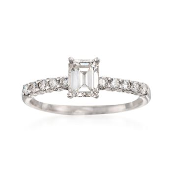 1.01 ct. t.w. Diamond Engagement Ring in 18kt White Gold, , default