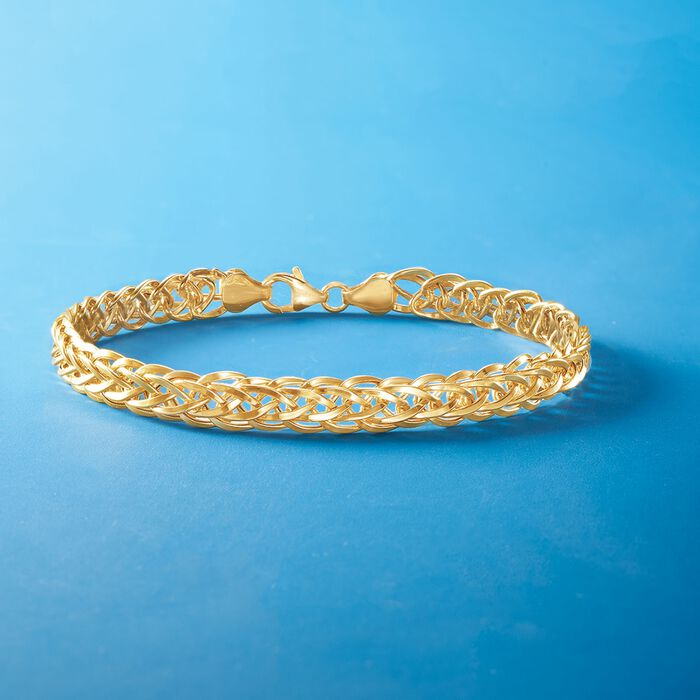 14kt Yellow Gold Wheat-Link Bracelet