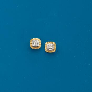 .10 ct. t.w. Diamond Cluster Earrings in 14kt Yellow Gold, , default