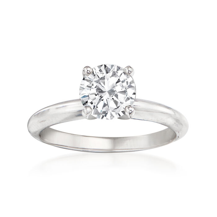 1.22 Carat Certified Diamond Engagement Ring in 14kt White Gold