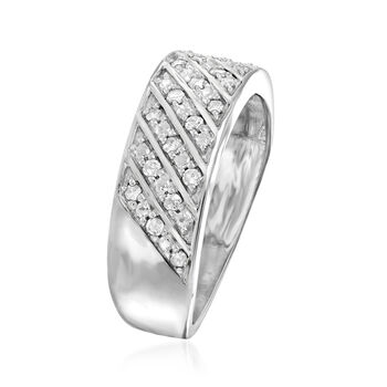 .25 ct. t.w. Diamond Diagonal-Row Ring in Sterling Silver
