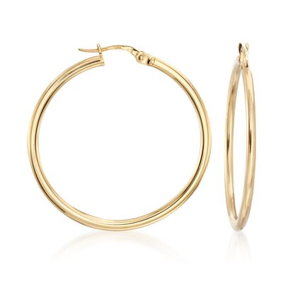 Roberto Coin 35mm 18kt Yellow Gold Hoop Earrings, , default