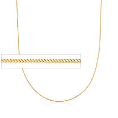 Italian 1mm 24kt Gold Over Sterling Adjustable Slider Snake Chain Necklace, , default