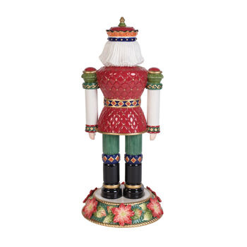 Fitz and Floyd Holiday Poinsettia Nutcracker Figurine