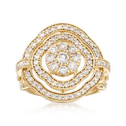 1.50 ct. t.w. Diamond Openwork Ring in 14kt Yellow Gold, , default