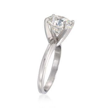 4.01 Carat Certified Diamond Solitaire Ring in Platinum, , default