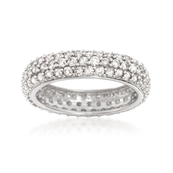 2.00 ct. t.w. Pave Diamond Eternity Band in 14kt White Gold, , default