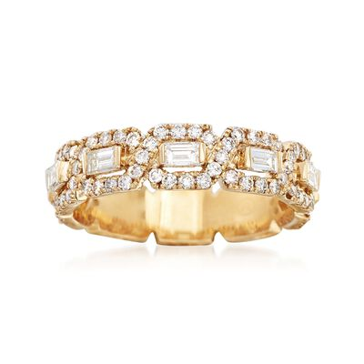 1.16 ct. t.w. Baguette and Round Diamond Ring in 14kt Yellow Gold, , default