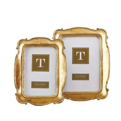 """Versailles"" Set of Two Golden Scalloped-Edge Frames , , default"