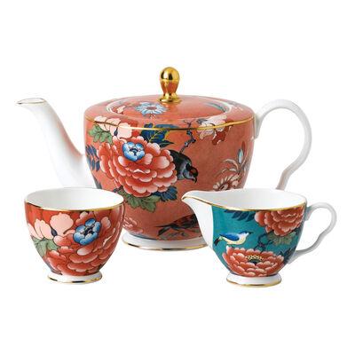 "Wedgwood ""Paeonia Blush"" 3-pc Tea Set, , default"