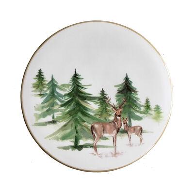 "Abbiamo Tutto Italian ""Woodlands"" Ceramic Trivet/Cheeseboard, , default"