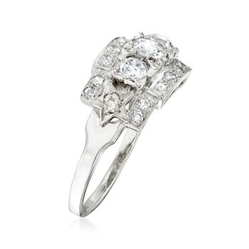 C. 1990 Vintage 1.05 ct. t.w. Diamond Ring in 14kt White Gold. Size 7.5
