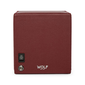 "Wolf ""Cub"" Bordeaux Leather Watch Winder"
