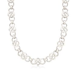 "Zina Sterling Silver Infinity-Link Necklace. 17"", , default"