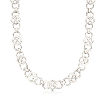 """Zina Sterling Silver Infinity-Link Necklace. 17"""", , default"""