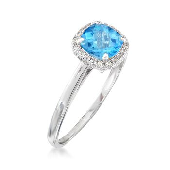 1.20 ct. t.w. Blue and White Topaz Ring Sterling Silver, , default