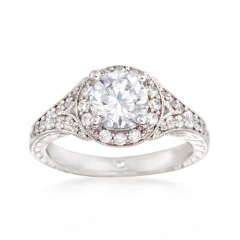 Gabriel Designs .45 ct. t.w. Diamond Engagement Ring Setting in 14kt White Gold, , default